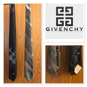 """🔥TWO AUTHENTIC VINTAGE """"GIVENCHY"""" TIES‼️"""